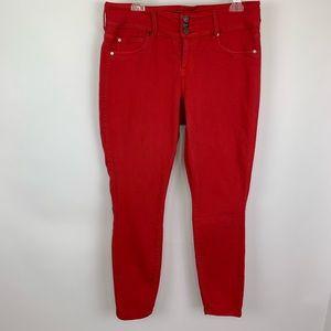 Torrid Red Skinny Jeggings 14R